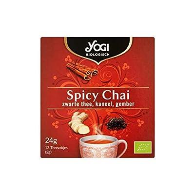 Thé Noir | Thé noir épicé chai biologique cannelle, gingembre 12 sacs à thé | Organic Spicy Chai Black Tea Cinnamon Ginger 12 Tea Bags | Poids Total 24 grams