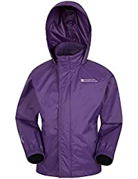 Mountain Warehouse Pakka Kids Waterproof Jacket - 2 Pockets Childrens Jacket, Breathable, Water Repellent Summer Coat, Wind Resistant - Ideal for Hiking