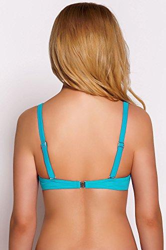 Vivisence 3209 Reggiseno Bikini Liscio Monocolorato Uniforme Coppe Imbottite - Fabbricato In UE Turchese