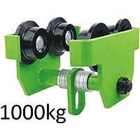 Laufkatze Krankatze Handfahrwerk Rollfahrwerk 1000 kg Lastkapazität 1 t 75mm - 125mm Flanschbreite