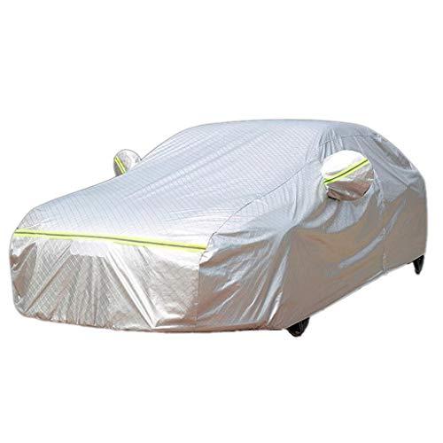 Bequemlichkeit Baumwollauto-Kleidung, wasserdichte Sonnencreme verdicken Autosonnenschutz faltbare vier Jahreszeiten Universal Car Cover Für den Aufstieg (Color : Silver) -