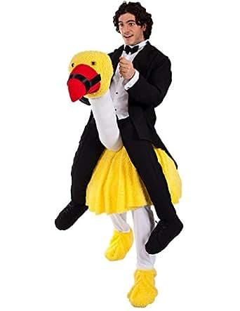 vogel strau reiter kost m karneval fasching herren verkleidung bekleidung. Black Bedroom Furniture Sets. Home Design Ideas