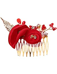 Cratone Peine de pelo con diseño de rosas para novia 432d4ff06b3c