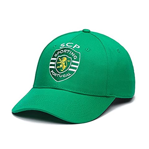 Sporting Clube de Portugal Adjustable Snapback Team Color Curved Bill Soccer Hat, One Size, Green