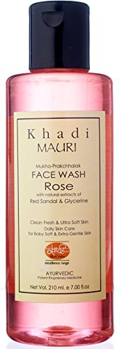 Khadi Mauri Herbals Rose Herbal Face Wash, 210ml
