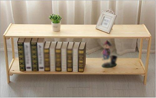 DFHHG® Bookshelf Bookcase 1200 * 300 * 450 Mm Dos capas de madera sólida de juguete Rack Child Storage Rack Kindergarten durable