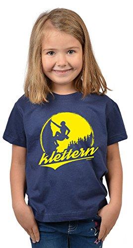Bergesteiger Sprüche Kinder T-Shirt Wander Shirt : Klettern - Kindershirt Klettern Berge T-Shirt Gr: XS = 110-116 -