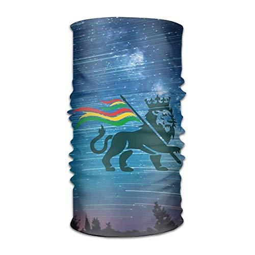 Jxrodekz Reggae Rasta Flag Lion Unisex Sportschal Stirnbänder Bandana Outdoor Schweißband Kopfbedeckung (Reggae-stirnband)