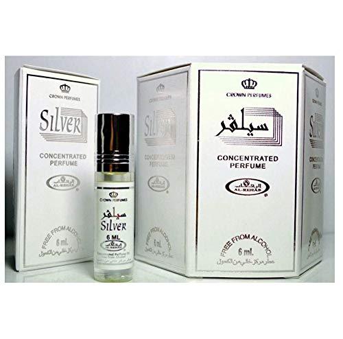Al Rehab Silver 12 x 6ml Original Genuine Fragrance Attar Perfume Scent Fresh Halal for Men Women Roll On