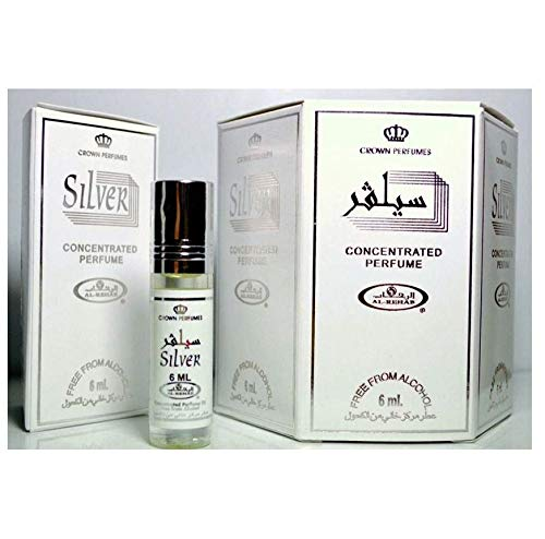 Al Rehab Silver 12 x 6ml Original Genuine Fragrance