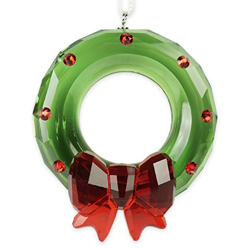 Swarovski Christmas Wreath Ornament, Kristall, Mehrfarbig, 5.7 x 4.5 x 1.6 cm