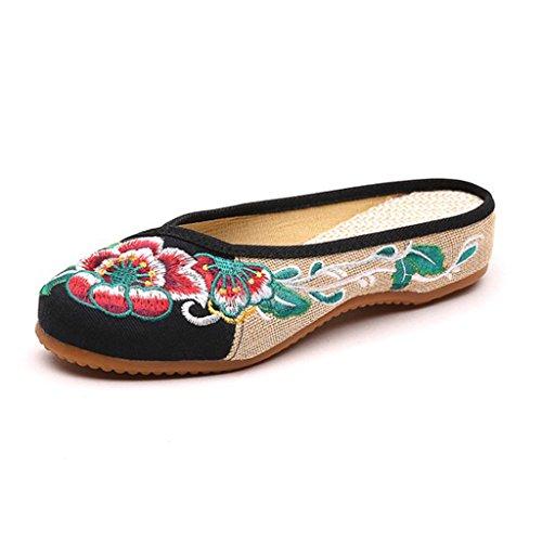 Hishoes - Scarpe Basse Stringate Donna Nero