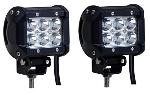 2pcs 18W CREE LED Work Light For Off Road 4WD ATV UTV SUV Fog Lamp Headlight
