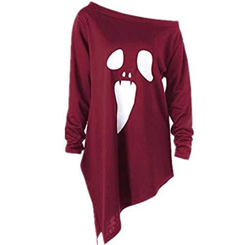 TWIFER 2018 Halloween Party Kostüm Langarmshirt Geist Sweatshirt Pullover Pullover