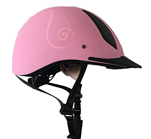 Unbekannt Einstellbar Reiten Helm Hut Gut belüftet Design Kids, Damen,Herren,Pink,59/62