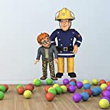 Wall Smart Designs Feuerwehrmann Sam und Norman Full Farbe Wandtattoo Aufkleber Wandbild Kinder Schlafzimmer Transfer Print Graphic