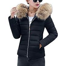 ORANDESIGNE Damen Warm Mantel Wintermantel Kurz Winterjacke Daunenjacke  Dickere Slim Fit Parka Reißverschluss Jacke Übergangsjacke mit b5ff7c9538