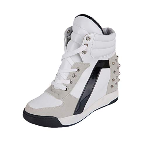 Mujer Zapatos Altas, Moda Tacón Alto Cuña Zapatillas