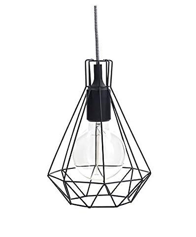 Lampenschirm Draht Diamond Lichtrahmen zum Aufhängen schwarz Drahtkorb für Lampenfassung