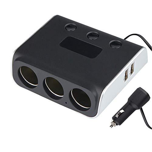 USB-Schnittstelle Doppel-Zigarettenanzünder 3 in 1 intelligentes Autoladegerät mit Zigarettenanzünder-Spannungsanzeiger USB doppelt 12V 24V