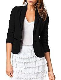 95c31f25e607 Litterprince Women OL Office Blazer Long Sleeve Casual Suit Jacket Slim Fit  Pockets Coat