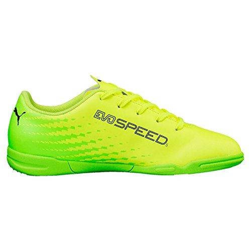 Puma Unisex-Kinder Evospeed 17.5 It Jr Fußballschuhe gelb - grün - schwarz