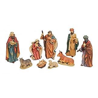 MC Trend – Figuras de belén con 9 Figuras de Navidad Tradicionales