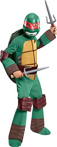 Turtle Kostüm Schuhe Ninja - Raphael Kinderkostüm Ninja Turtle Gr. 110-122, 5-7 Jahre