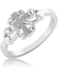 IskiUski Silver Diamond Rings For Girls And Women In Sterling Silver Ring Jewellery