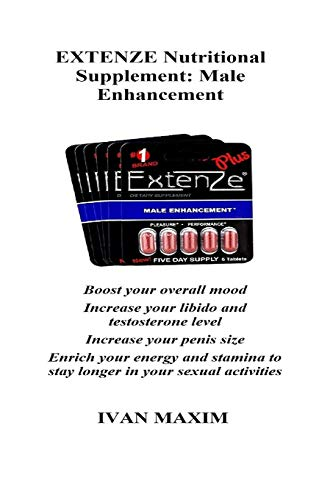 EXTENZE Nutritional Supplement: Male Enhancement: Boost your overall mood Increase your libido and testosterone level Increase your penis size Enrich ... to stay longer in your sexual activities