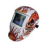 Mauk Automatik 1754 Exclusive - Casco de soldadura, diseño de cabeza en llamas