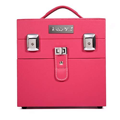 Malette maquillage Beauty case professionnel multi-couches de type tiroir coffre-meuble capacité de rangement de clou boîte boîte à outils Tattoo,Pink