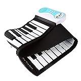 WAOBE 37 Tasten Mini Roll Hand Gerollte Klavier, Portable Piano Fähig Wird Aufgerollt, Anfänger Praxis Klavier, Elektronisches Klavier Falten