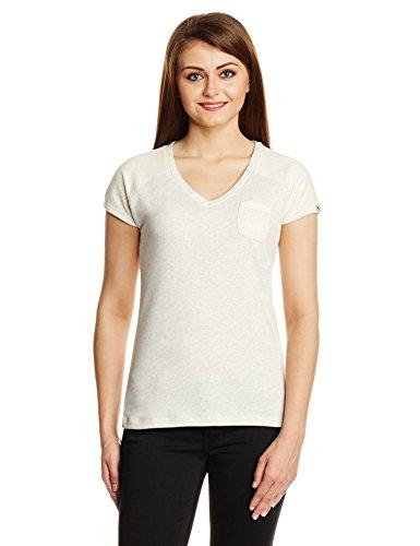 PUMA t-shirt pour femme style tendance terry tee w Blanc - Écru/gris