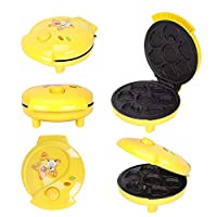 Animal Mini Waffle Maker Mini Cake Pop Maker Makes 7 Fun Different Shaped Pancakes Electric Non-Stick