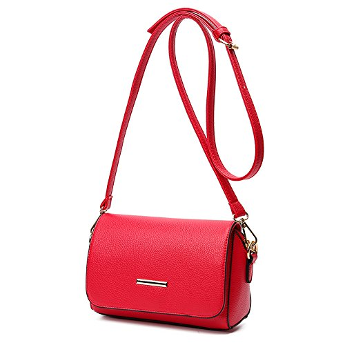 GUANGMING77 Onorevoli Colleghe _ Unica Piccola Borsa A Tracolla Messenger Bag Sacca Donne Ladies,Gules gules