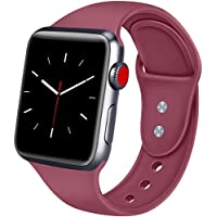 ATUP Armband Kompatibel für Apple Watch Armband 38mm 42mm 40mm 44mm, Weich Silik on Ersatz Armband für iWatch Apple Watch Series 4, Series 3, Series 2, Series 1