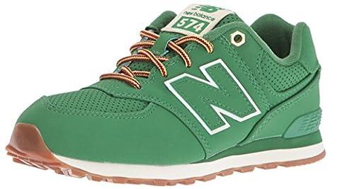 New Balance Unisex-Kinder 574 Sneakers, Grün (Green), 39 (Balance Runner)