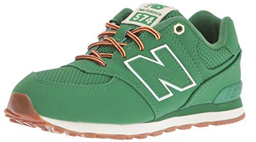 New Balance 574, Scarpe da Ginnastica Basse Unisex - Bambini, Verde (Green), 38.5 (Balance Runner)