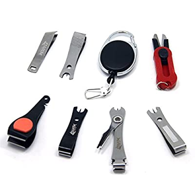 SAMSFX Fly Fishing Tools Kits Retractor Zinger with Line Clipper Nippers Scissor Combo from samalon