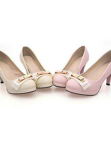 WSS 2016 Chaussures Femme-Bureau & Travail / Habillé / Soirée & Evénement-Rose / Beige-Talon Aiguille-A Plateau / Bout Arrondi-Talons-Cuir Verni beige-us6 / eu36 / uk4 / cn36
