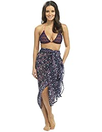 Ladies Sarong Womens Summer Beachwear Pool Cover Up Wrap One Size fits 10 12 14 16 18 20