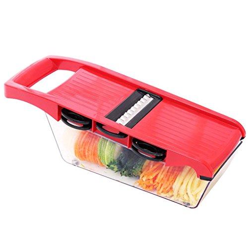 Minzhi Kunststoff, Gem¨¹se, Obst Slicer Cutter mit Verstellbaren Klingen aus rostfreiem Stahl Karotte Kartoffel Zwiebel Reibe