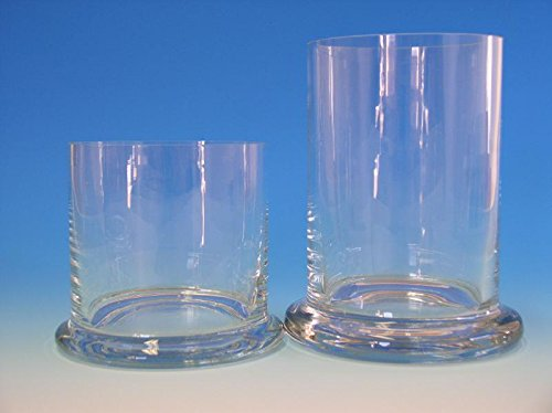 Glaszylinder ohne Deckel mit Fuß 20x8 cm