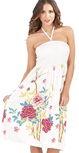 Pistachio Freizeitkleid mit Blumenmuster Gr. Small , Pink Floral 2 Floral 2 Teller