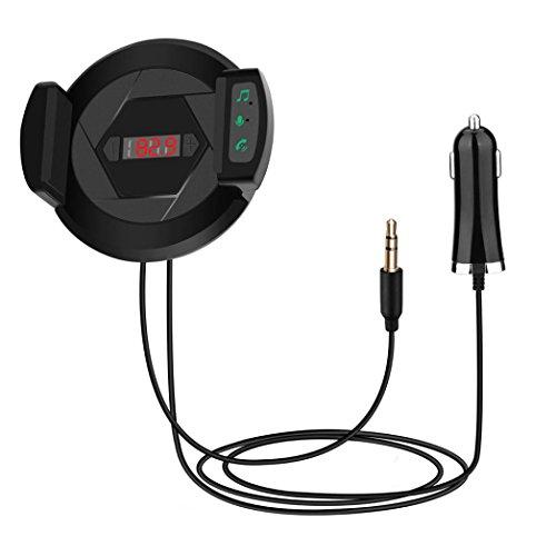Bluetooth FM Transmitter, Gusspower HIFI Wireless Audio Receiver Stereo, Car Kit mit USB Fast Car Ladegerät, Mikrofon Freisprecheinrichtung Telefonhalter AUX Input für iPhone, Android und MP3 - Kit Radio Machen
