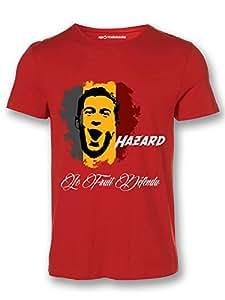 Sportskeeda Belgium Eden Hazard WC 14 Football T-shirt Red - XXL