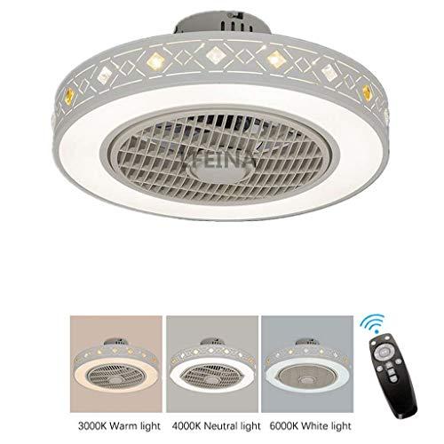 Moderne Einfachheit Fan Deckenventilator Deckenlampe mit LED Beleuchtung und Fernbedienung Leise Ventilator Kreative Unsichtbare Deckenventilatoren für Kinderzimmer Schlafzimmer Wohnzimmer Φ56 cm (Stromversorgung 36w Oberfläche)