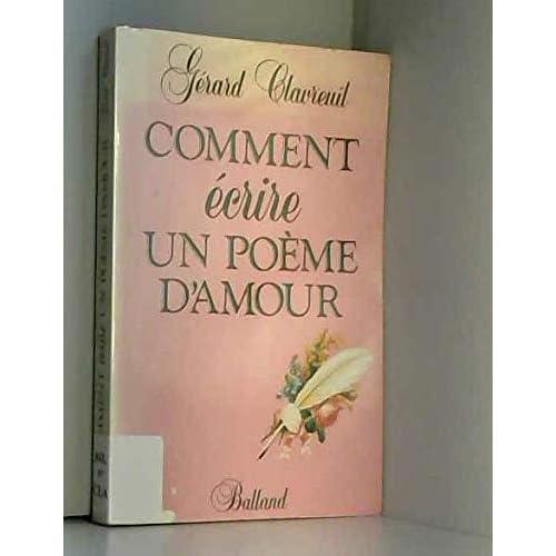 Comment ecrire un poème d'amour