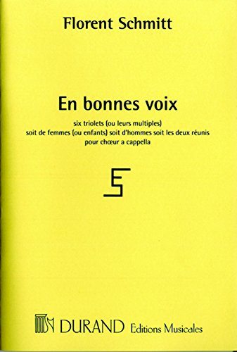 En Bonnes Voix, opus 91